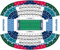 Cowboys Stadium Suite Chart Breakdown Of The At T Stadium Seating Chart Dallas Cowboys