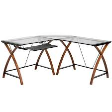 office depot desks glass. Chic Office Depot Wood Desk Glass Computer Home Regarding Decorations 7 Desks U