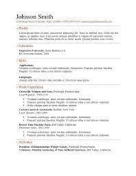 Sample Resume Word Document Free Download Awesome Easy Microsoft