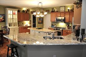 Crema Bordeaux Granite Kitchen Beautiful Large Space Modern Kitchen With Bordeaux Granite For
