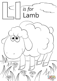 Lamb Coloring Page Letter L Is For Free Printable Pages Cartoon Coloring Pages L