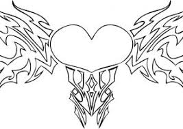 Small Picture Heart With Wings Coloring Pages Coloring4Freecom
