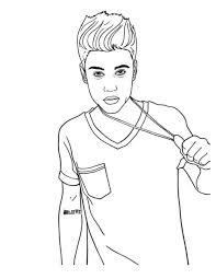 Small Picture Justin Bieber Coloring Pages To Print Justin Bieber Coloring Page