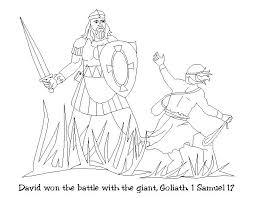 David And Goliath Coloring Page Noticiasdemexicoinfo