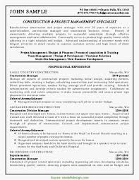 18 Construction Project Manager Resume Sample Simple Best Resume