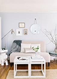 simple living room. if your living room is small, use a loveseat in place of couch. complement that with small unique side tables. simple b