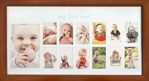 Babys First Year Frame In Elegant Brown Natural Wood My First Year Baby Pi Ebay