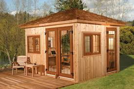 prefab backyard office. Cedarshed Industries\u0027 Prefab Ultimate Backyard Office Starts At $13,000. The Kit Makes A Sturdy, 10-foot-by-12-foot With 9-foot-by-9-foot Deck. E