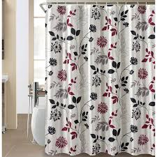 25 the wild bloom shower curtain featuring a fl silhouette in shades of black