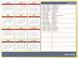The Year Calendar Printing A Yearly Calendar With Holidays And Birthdays Howto Outlook