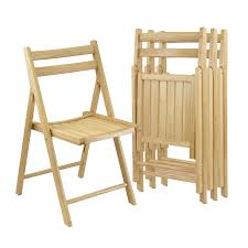 Winsome Wood 4-Pack Indoor Wood Beech Standard Folding Chair