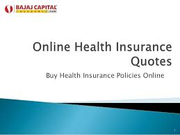 Online Health Insurance Quotes