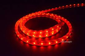120 Volt Red Led Light Cbconcept Ul Listed 3 3 Feet 360 Lumen Red 120 Volt Flat Led Strip Rope Light