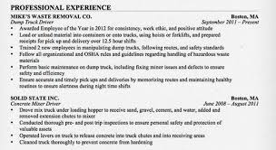 The Road Ready Truck Driver Resume AllTruckJobs Beauteous Resume For Cdl Driver