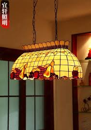 Tiffany Style Stained Glass Lamp Shade Fruit Pattern Chandelier 4 Bulb  Ceiling