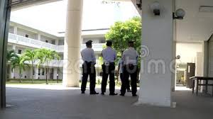 Hospital Security Guard Supervisor Briefing Security Guards Standing Stock Video Video Of