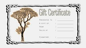 gift certificate template free tattoo image collections
