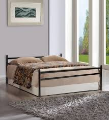queen size bed with mattress included. Beautiful Queen Zurich Metallic Queen Size Bed In Black Finish By FurnitureKraft To With Mattress Included