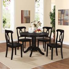 black round dining table and chairs. Dorel Living Aubrey 5 Piece Pedestal Dining Set Black Round Table And Chairs