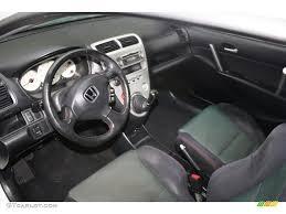 Black Interior 2003 Honda Civic Si Hatchback Photo #58540085 ...