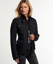 Black Quilted Coats For Women - JacketIn & Womens - Apex Quilted Jacket in Black | Superdry Adamdwight.com