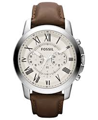 fossil men s chronograph grant brown leather strap watch 44mm fossil men s chronograph grant brown leather strap watch 44mm fs4735