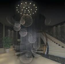 new modern hotel lobby big crystal chandelier staircase lighting rd size chande