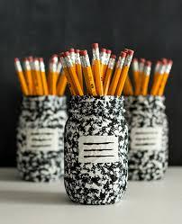 Mason Jar Crafts Desk Organizer Idea Composition Book Mason Jar Mason Jar Crafts