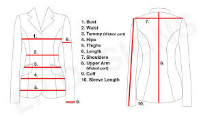 Jacket Measurements Chart Sizing Measuring Charts Lp Designs Australia