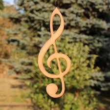 Fensterdeko Aus Holz Violinschlüssel Zum Aufhängen Kaufen