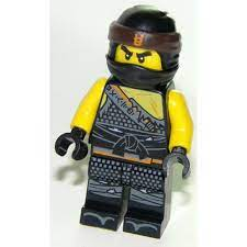 LEGO MINIFIG NINJAGO Cole - Hunted, Orange Asian Symbol on Bandana