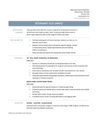 Veterinary Assistant Resume Examples Examples Of Resumes