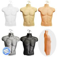mannequin body form half male hanging body form shop display bust torso shell mannequin