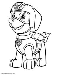 Coloring Pages Print Paw Patrolloring Pages Zuma Endear Rocky