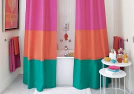 diy shower curtain ideas. Feel Like Having A Trendy Bathroom? Go Color-block! I Have Always Been In Love With This Idea For DIY Shower Curtain, To Be Perfectly Honest. Diy Curtain Ideas T