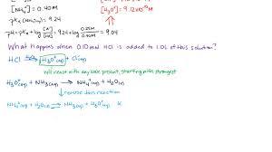 Henderson Hasselbalch Adding Acid To A Buffer Calculating The Ph Using Henderson Hasselbalch