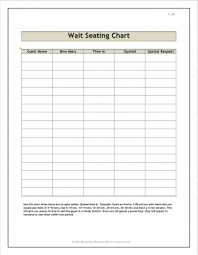 014 15 Restaurant Table Seating Chart Template 002 Excel