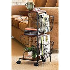 Magazine Holder Uses Amazon 100 Tier Rolling Magazine End Table Storage Many Uses 85