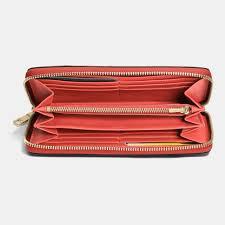 Lyst - Coach Accordion Zip Wallet In Croc Embossed Leather in Metallic