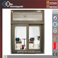 sliding office window. double glazing high quality office sliding glass window with transom i