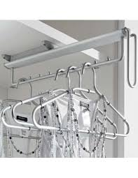 Pull Out Coat Rack Stunning Wardrobe Pull Out Clothes Hanger Rail Horizontal Opening Chrome