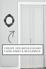 a step by step tutorial on how to update outdated bi fold closet