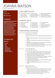 Banking CV example