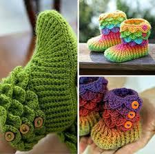 Crochet Booties Pattern Extraordinary The Cutest Crochet Crocodile Stitch Booties [Tutorial Patterns]