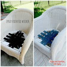 painted wicker furnitureSpray Paint For Wicker Outdoor Furniture  Simplylushliving