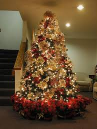 ... Christmas Tree Decoration Red And Gold Theme | Christmas Theme ...