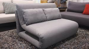 gray single sofa bed