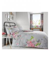 this pretty alice fl double duvet cover and pillowcase set features a pink fl pattern on