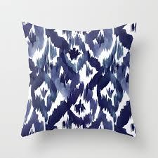 indigo throw pillows. Plain Indigo Indigo Blue Ikat Throw Pillow In Pillows Y