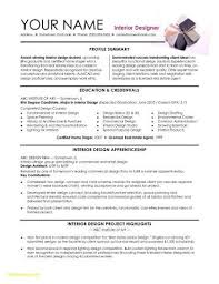 Design Resume Templates Simple Interior Design Skills On Resume Beautiful 48 Interior Design Resume